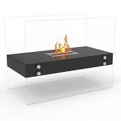 Regal Flame Ionic Ventless Free Standing Ethanol Fireplace in Black