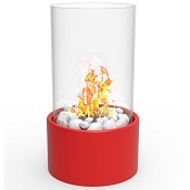 Regal Flame Eden Ventless Tabletop Portable Bio Ethanol Fireplace in Red