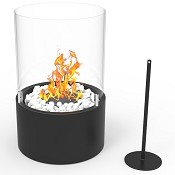 Regal Flame Casper Ventless Ventless Tabletop Portable Bio Ethanol Fireplace in Black