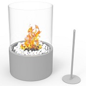 Regal Flame Casper Ventless Ventless Tabletop Portable Bio Ethanol Fireplace in Gray