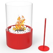 Regal Flame Casper Ventless Ventless Tabletop Portable Bio Ethanol Fireplace in Red