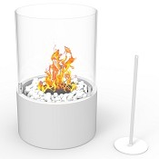 Regal Flame Casper Ventless Ventless Tabletop Portable Bio Ethanol Fireplace in White