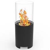 Regal Flame Capelli Ventless Tabletop Portable Bio Ethanol Fireplace in Black