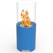 Regal Flame Capelli Ventless Tabletop Portable Bio Ethanol Fireplace in Blue