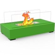 Regal Flame Utopia Ventless Tabletop Portable Bio Ethanol Fireplace in Green