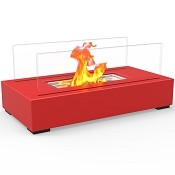 Regal Flame Utopia Ventless Tabletop Portable Bio Ethanol Fireplace in Red