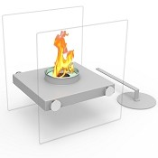 Regal Flame Luminox Ventless Tabletop Portable Bio Ethanol Fireplace in Gray