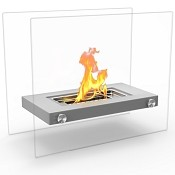 Regal Flame Monrow Ventless Tabletop Portable Bio Ethanol Fireplace in Gray