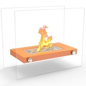 Regal Flame Monrow Ventless Tabletop Portable Bio Ethanol Fireplace in Orange