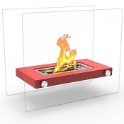 Regal Flame Monrow Ventless Tabletop Portable Bio Ethanol Fireplace in Red