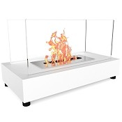 Regal Flame Avon Tabletop Portable Bio Ethanol Fireplace in White