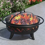Wellington 30 Inch Outdoor Backyard Garden Home Light Fire Pit