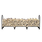8 Foot Heavy Duty Deluxe Steel Indoor Outdoor Firewood Log Rack Holder For Fireplaces, Fire Pits, Fire bowls, chimenea, or Wood for smokers