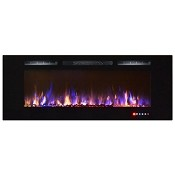 Regal Flame Astoria 60 Inch Built-in Ventless Heater Recessed Wall Mounted Electric Fireplace - Multi-Color