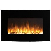 Regal Flame Madison 35 Inch Ventless Heater Electric Wall Mounted Fireplace - Pebble