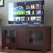 Ryan Rove Tribeca 52 Inch TV Console in Walnut Brown