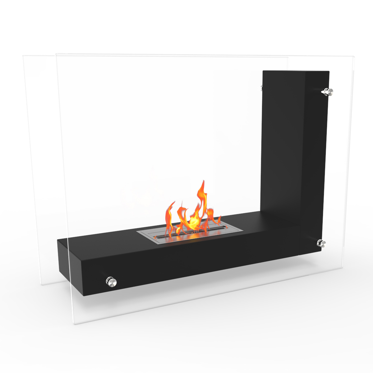 Regal Flame Avec Ventless Free Standing Ethanol Fireplace In Black