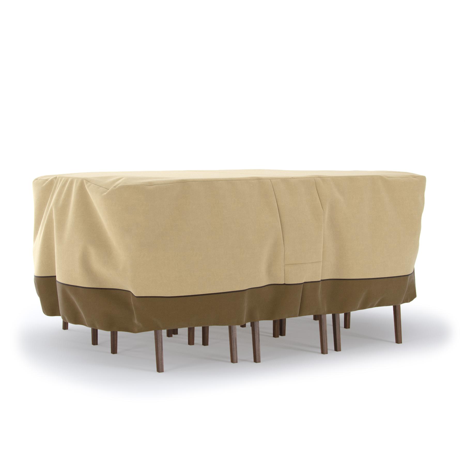 Oval Heavy Duty Patio Table Chair Set