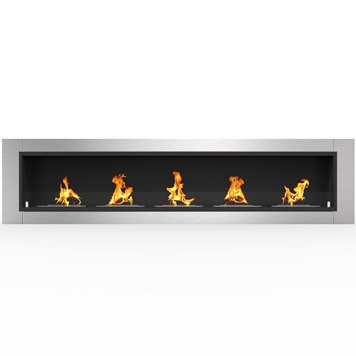 Regal Flame Cambridge 71 Inch Ventless Built In Recessed Bio Ethanol Wall Mounted Fireplace