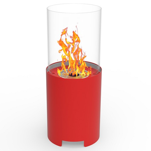 Regal Flame Capelli Ventless Tabletop Portable Bio Ethanol Fireplace in Red